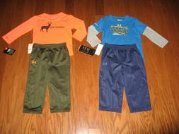 Under Armour 2-Pc. long sleeves shirt & Pants Outfit Set Boy