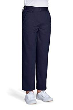 French Toast Boys' Husky Relaxed Fit Pull-on Twill Pant, Nav