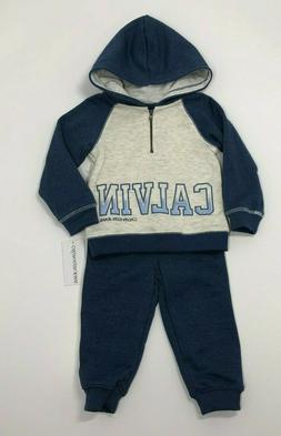 Calvin Klein Baby Boys 2-Pc. Colorblocked Hoodie & Jogger Pa