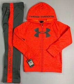Boy's Little Youth Under Armour Full-Zip Hoodie and Athletic