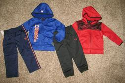 Under Armour Boys 2T Hoodie Jacket Pants 2 Piece Set  Red/Bl
