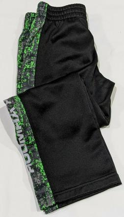 Under armour boys black and green pants size 4T