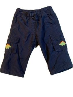 Gymboree Boys Cargo Navy Blue Lined Pants Size 6-12 Months