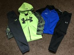 Boys Size 5 Under Armour Outfits Lot Pants Shirts Zip-ups Ho