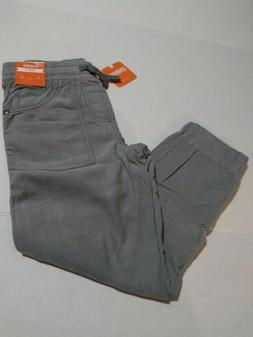 GYMBOREE BOYS SIZE 7 GRAY LINED PULL-ON STYLE JOGGER PANTS C