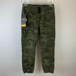 Lee Jogger Relaxed Fit Green Camo Pattern Boys Size 5 NWT