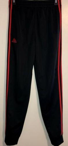 Boys' Adidas Athletic Jogger Pant Iconic Black With Red Side