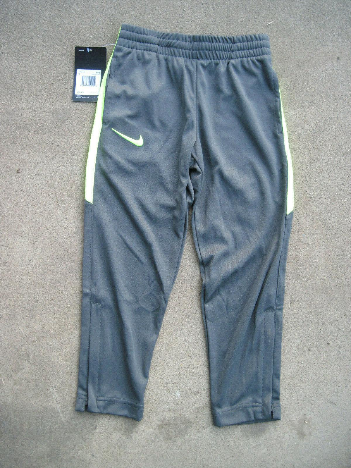 boys athletic pants iron gray and yellow