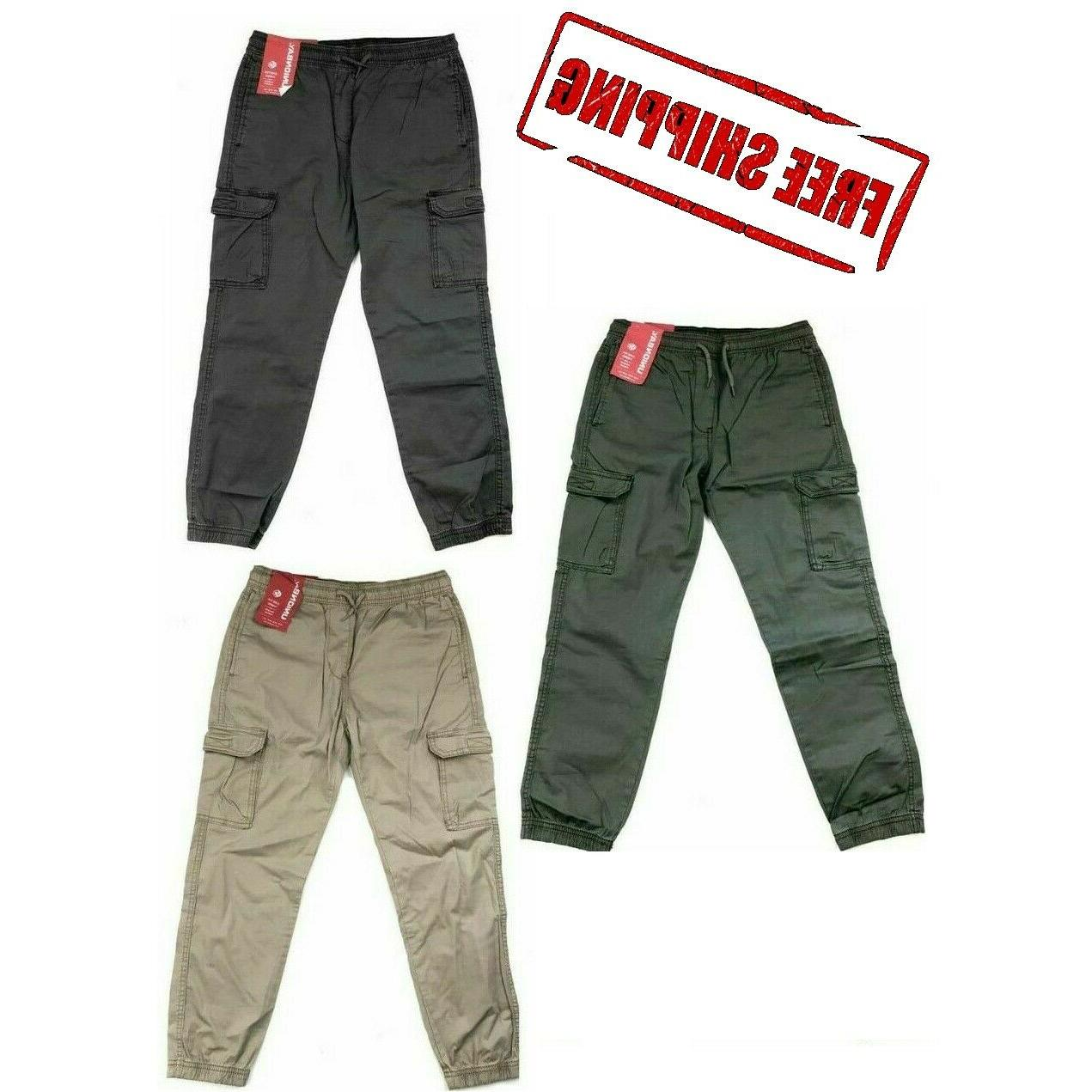 boys youth jogger cargo pull on cotton