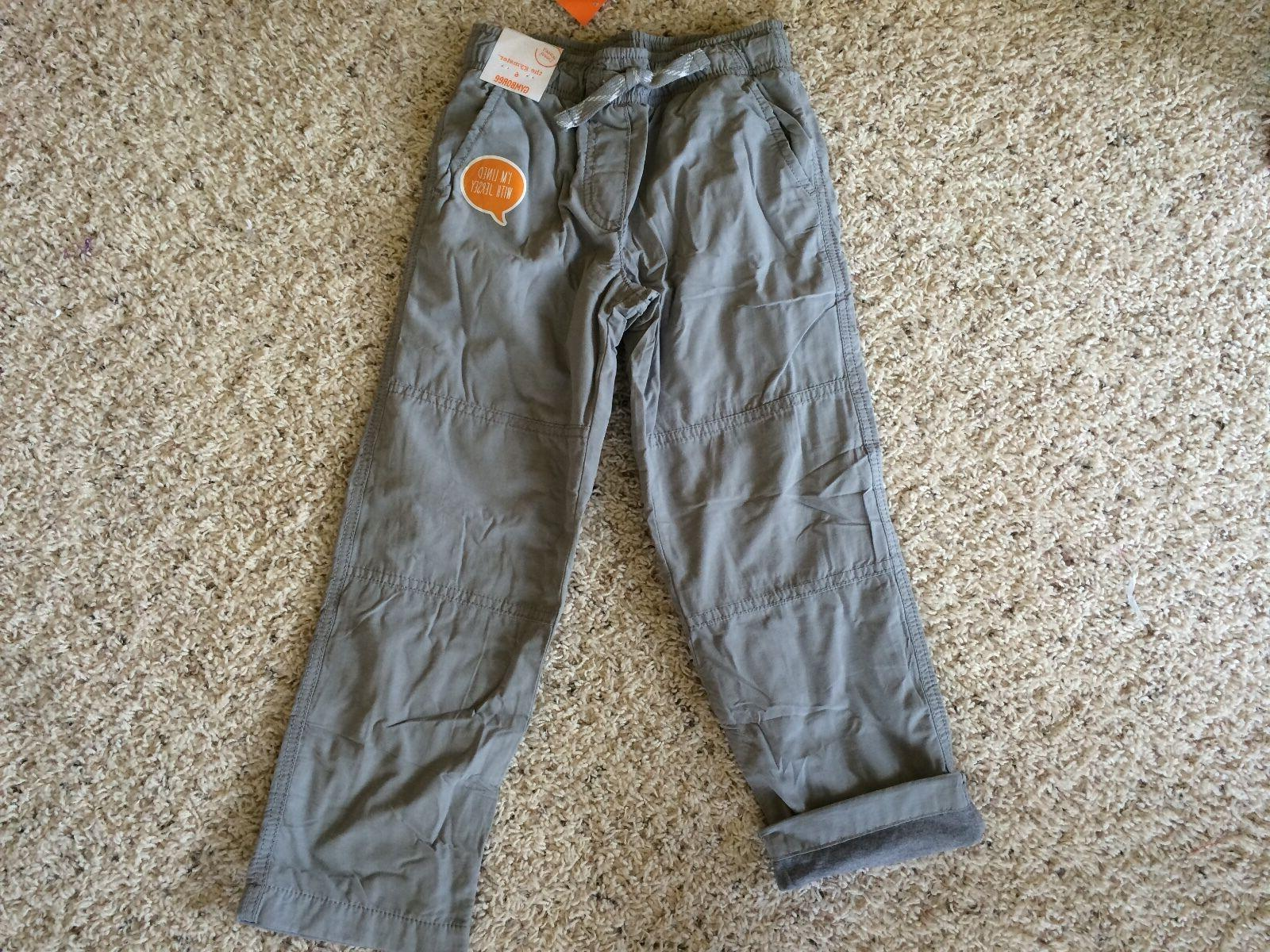 nwt boys pull on pants gray jersey