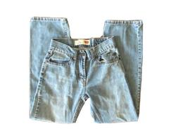 Levis 505 Straight Boys Blue Medium Wash Jeans Youth Size 12