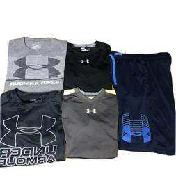 Lot  Under Armour Tops Shirts compression Shorts Boy's Lar