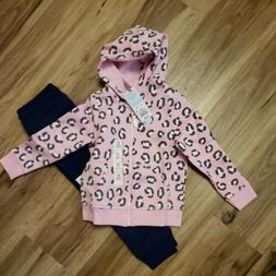 Lot Girls SIZE 3T Toddler Pink Top. Blue Navy Joggers pants