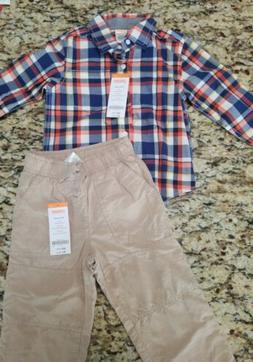New Gymboree toddler boy 18-24 month pull on pants Shirt Out