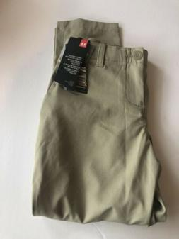 NWT Boys Under Armour Golf Pants Size Youth 8 Loose Fit Tan/