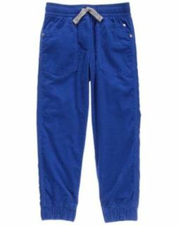 NWT Gymboree Boys Pull on Pants Blue Corduroy Jersey Lined J