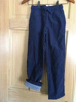 NWT Gymboree Boys Pull on Pants Navy Blue Jersey Lined Gymst