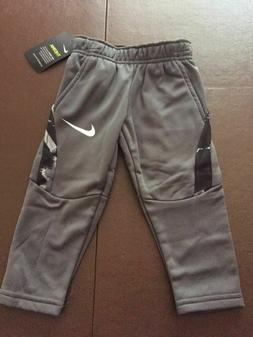 NWT Nike Boys Toddler Dri Fit Athletic Sweat Pants Gray Size