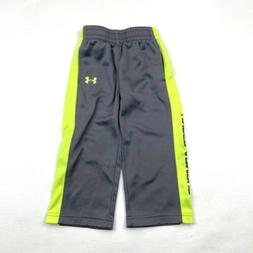 Under Armour Toddler Boys Pant 24 Month 2T Gray Neon Large L