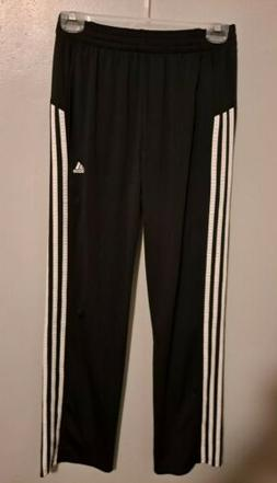 Adidas Youth Tricot Jogger Athletic Pants, Black/White, Size